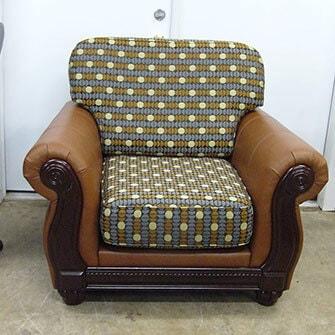 Кресло - кожзам + ткань