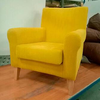 Кресло после перетяжки в Миорах