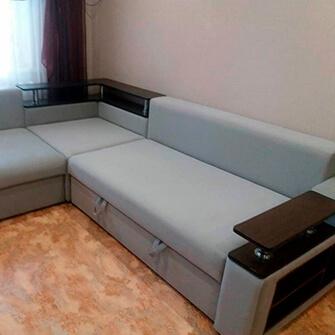 Угловой диван после перетяжки в Миорах