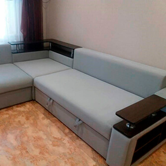 Угловой диван после перетяжки в Буда-Кошелёво